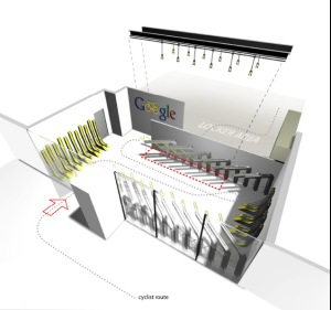 Co-winner of the indoor category of the CityRacks Design Competition - the team of Jessica Lee and Anthony Lau