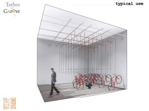 RSVP Studios was a co-winner of the Indoor Bicycle Rack Competition.